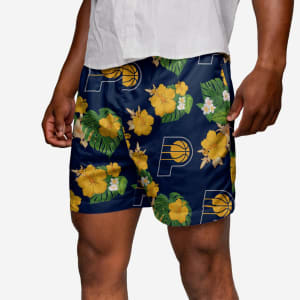 Indiana Pacers Floral Swimming Trunks - L
