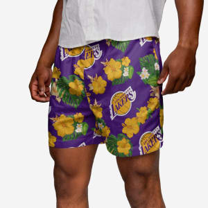 Los Angeles Lakers Floral Swimming Trunks - 2XL