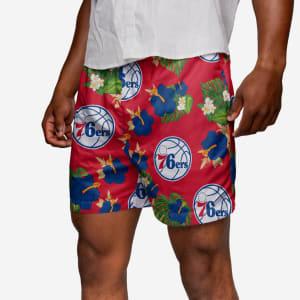 Philadelphia 76ers Floral Swimming Trunks - M