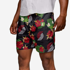 Portland Trail Blazers Floral Swimming Trunks - XL