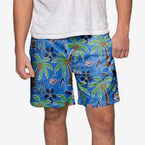 Oklahoma City Thunder Tropical Swimming Trunks - M