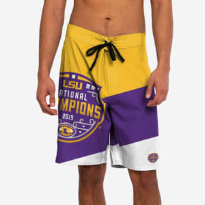 LSU Tigers 2019 Football National Champions Color Dive Boardshorts - S