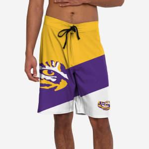LSU Tigers Color Dive Boardshorts - M