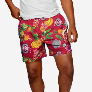 "Ohio State Buckeyes Fruit Life 5.5"" Swimming Trunks - XL"