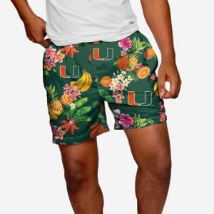 "Miami Hurricanes Fruit Life 5.5"" Swimming Trunks - XL"