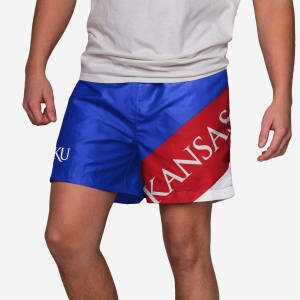 "Kansas Jayhawks Big Logo 5.5"" Swimming Trunks - L"
