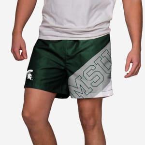 "Michigan State Spartans Big Logo 5.5"" Swimming Trunks - L"