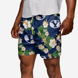 BYU Cougars Floral Swimming Trunks - 2XL
