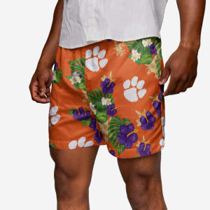 Clemson Tigers Floral Swimming Trunks - M