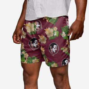 Florida State Seminoles Floral Swimming Trunks - XL