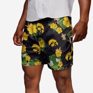 Iowa Hawkeyes Floral Swimming Trunks - L