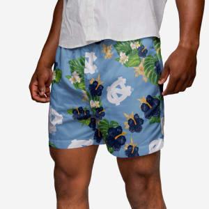 North Carolina Tar Heels Floral Swimming Trunks - L