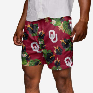 Oklahoma Sooners Floral Swimming Trunks - L