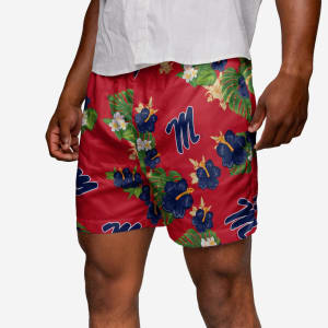 Ole Miss Rebels Floral Swimming Trunks - 2XL