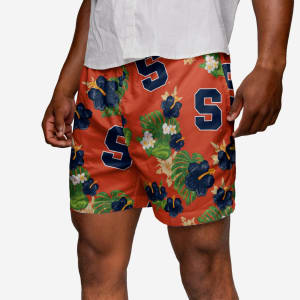 Syracuse Orange Floral Swimming Trunks - L