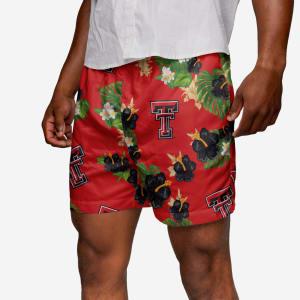 Texas Tech Floral Swimming Trunks - XL