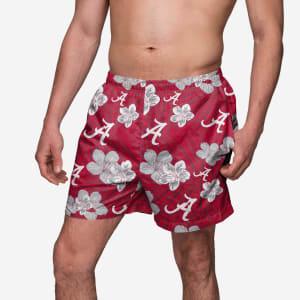 Alabama Crimson Tide Hibiscus Swimming Trunks - XL