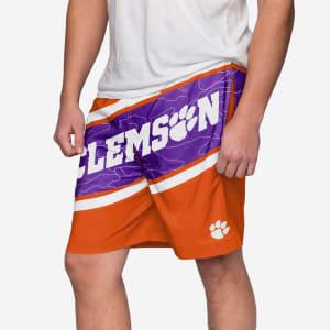 Clemson Tigers Big Wordmark Swimming Trunks - XL