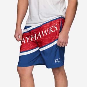 Kansas Jayhawks Big Wordmark Swimming Trunks - 2XL