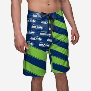 Seattle Seahawks Diagonal Flag Boardshorts - 2XL