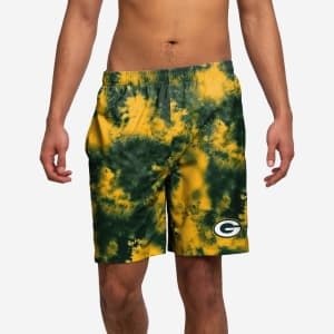 Green Bay Packers To Tie-Dye For Swimming Trunks - XL