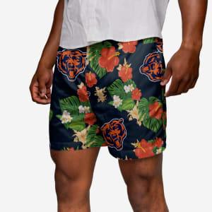 Chicago Bears Floral Swimming Trunks - 3XL