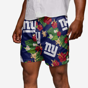 New York Giants Floral Swimming Trunks - L