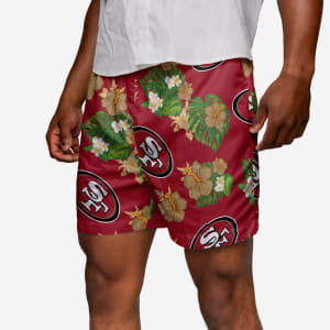 San Francisco 49ers Floral Swimming Trunks - 2XL