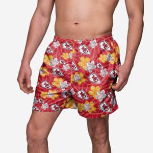 Kansas City Chiefs Hibiscus Swimming Trunks - 2XL