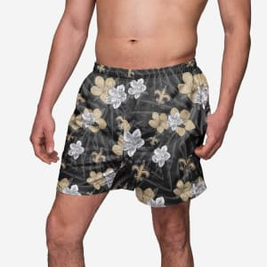 New Orleans Saints Hibiscus Swimming Trunks - XL