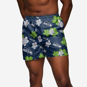 Seattle Seahawks Hibiscus Swimming Trunks - 2XL