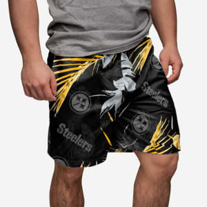 Pittsburgh Steelers Neon Palm Shorts - XL