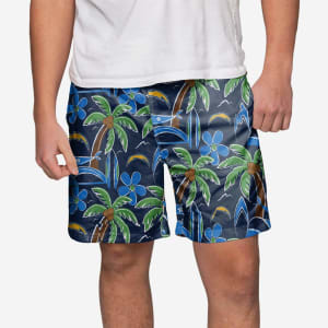 Los Angeles Chargers Tropical Swimming Trunks - M