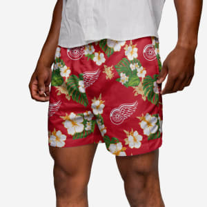 Detroit Red Wings Floral Swimming Trunks