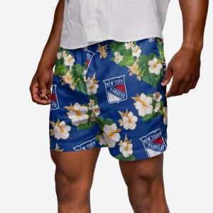New York Rangers Floral Swimming Trunks - L