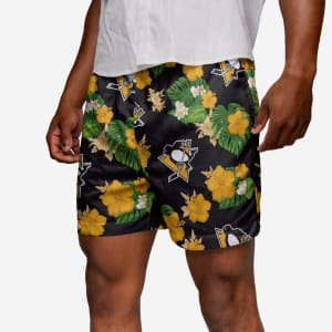 Pittsburgh Penguins Floral Swimming Trunks - S