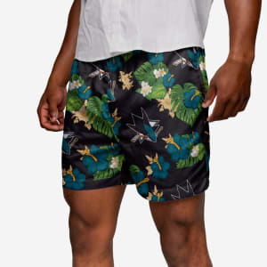 San Jose Sharks Floral Swimming Trunks - 2XL