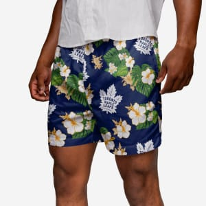 Toronto Maple Leafs Floral Swimming Trunks - S