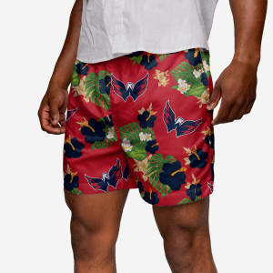 Washington Capitals Floral Swimming Trunks - M