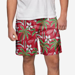 Detroit Red Wings Tropical Swimming Trunks - XL
