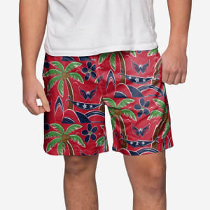 Washington Capitals Tropical Swimming Trunks - XL