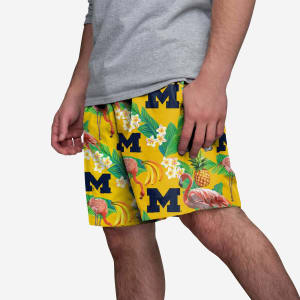 Michigan Wolverines Floral Shorts - M