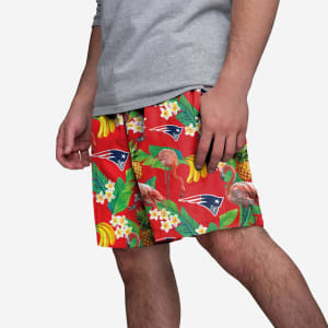 New England Patriots Floral Shorts - S