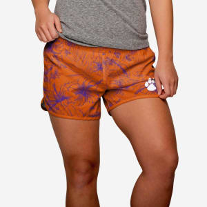 Clemson Tigers Womens Island Vibes Shorts - S