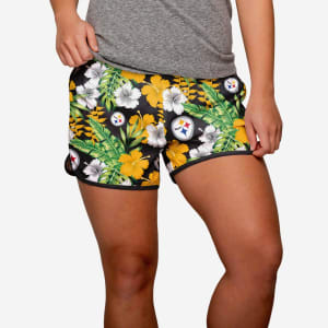 Pittsburgh Steelers Womens Tropical Breeze Shorts - L