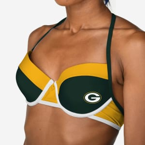 Green Bay Packers Team Logo Bikini Top