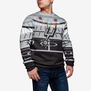 San Antonio Spurs Light Up Bluetooth Sweater - 2XL