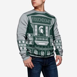 Michigan State Spartans Ugly Light Up Sweater - 2XL