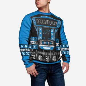 Carolina Panthers Ugly Light Up Sweater - S