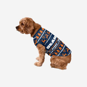 Chicago Bears Dog Family Holiday Sweater - L